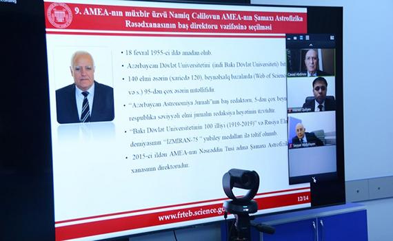 AMEA-nın müxbir üzvü Namiq Cəlilov Şamaxı Astrofizika Rəsədxanasının baş direktoru seçilib