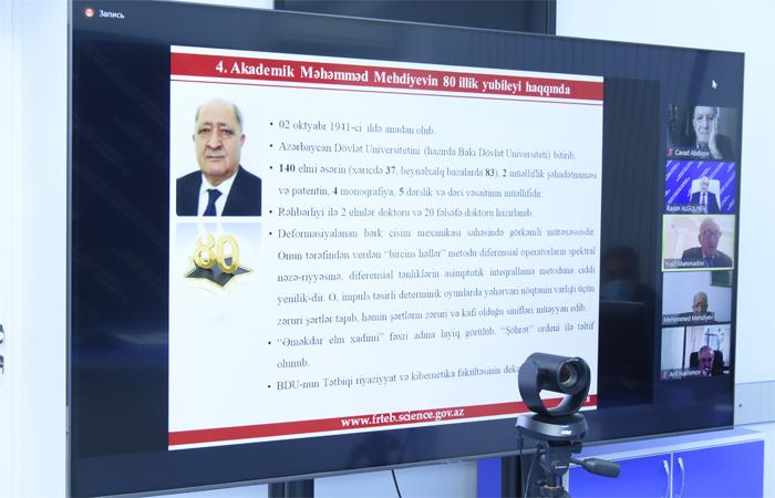 FRTEB-in Ümumi yiğincaği akademik Məhəmməd Mehdiyevin 80 illik yubileyinin keçirilməsi barədə qərar qəbul edib