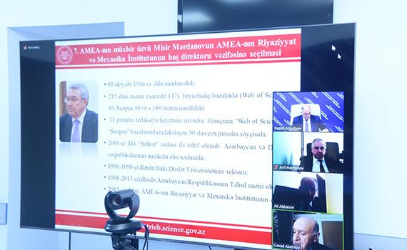 AMEA-nın müxbir üzvü Misir Mərdanov Riyaziyyat və Mexanika İnstitutunun baş direktoru seçilib