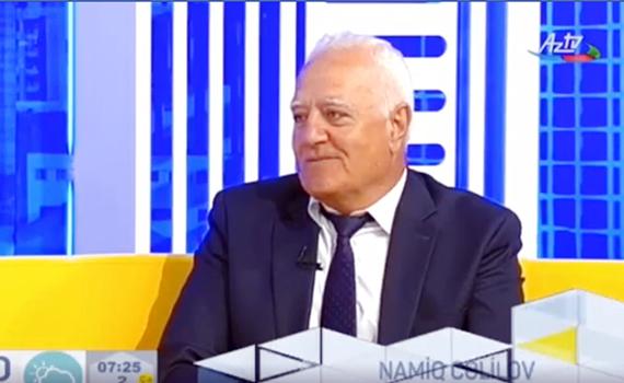 """AMEA-nın müxbir üzvü Namiq Cəlilov AZTV-nin """"Tele səhər"""" proqramının qonağı olub"""